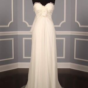 Peter Langner Eiffel Silk Wedding Dress Size 4